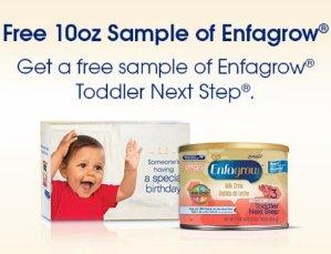 Free!Enfagrow Toddler Next Step 10oz Sample