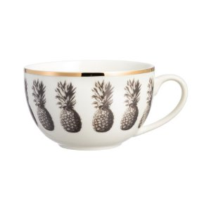 Pineapple-patterned Mug | White/gold-colored | H&m home | H&M US