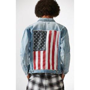 PacSun Flag Stars And Stripes Denim Jacket at PacSun.com