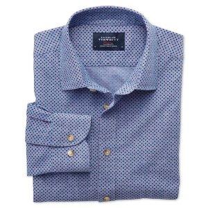 Slim fit blue and purple spot print shirt | Charles Tyrwhitt