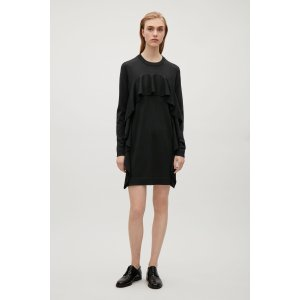 Knitted frill dress