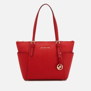 MICHAEL MICHAEL KORS Women's Jet Set East West Top Zip Tote Bag - Bright Red - Free UK Delivery over £50