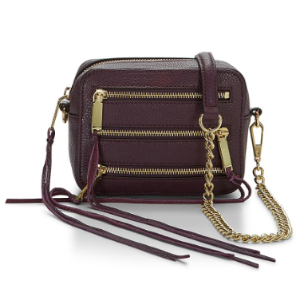 Leather Camera Bag | Maroon 4 Zip Moto Camera Bag | Rebecca Minkoff