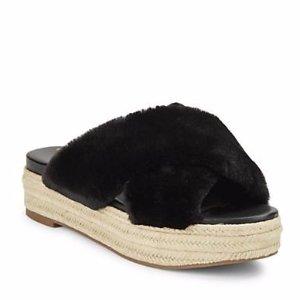 Sam Edelman Zia Faux Fur Platform Sandals @ Lord & Taylor