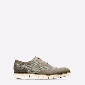 ZEROGRAND No Stitch Oxfords in Sea Otter-Brown | Cole Haan Outlet
