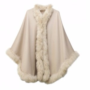 20% OffPampeano Alpaca Fur Trimmed Cape Taupe