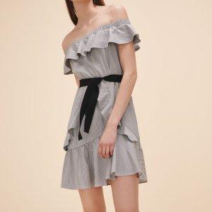 RIGATE Striped short dress - Dresses - Maje.com