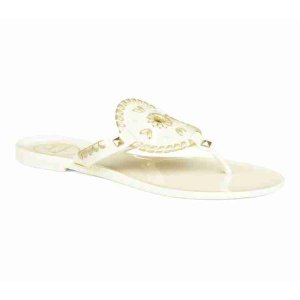 Georgica Jelly Sandal | Yellow Designer Jelly Flip Flops