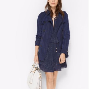 Double-breasted Tech Trench Coat | Michael Kors