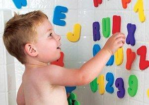 低价!$4.48Munchkin 戏水洗澡字母数字贴益智玩具36片