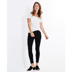 The Zip Up Legging Ankle in Super Black Skinny Jeans