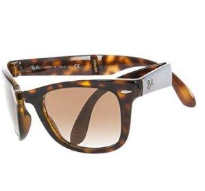 $91.58Ray-Ban Wayfarer系列方框镜片折叠太阳镜