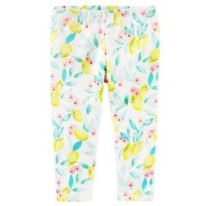 Kid Girl TLC Lemon Print Crop Leggings | OshKosh.com