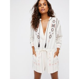 Ivory Baja Romper at Free People Clothing Boutique
