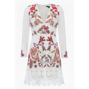 Legere Lace Floral Embroidered Dress | Dresses | French Connection Usa