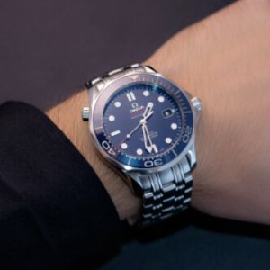 Omega Seamaster Blue Dial Automatic Stainless Steel Men's Watch