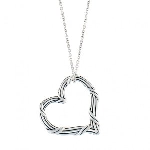 Peter Thomas Roth Ribbon & Reed Signature Classic Heart Pendant Necklace in sterling silver
