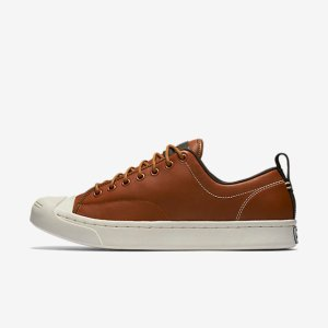Converse Jack Purcell Tumbled Leather Low Top Unisex Shoe.