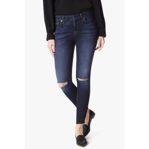 The Ankle Skinny Jeans With Knee Slits in Dark Canterbury - 7FORALLMANKIND