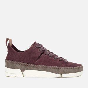Clarks Originals Women's Trigenic Flex Shoes - Burgundy Nubuck