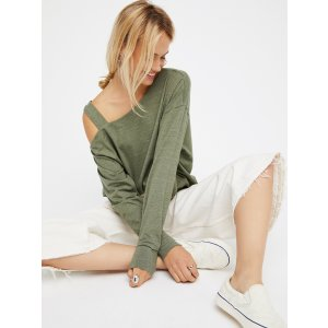 We The Free Olive We The Free Saratoga Top at Free People Clothing Boutique