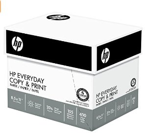 $20.11HP Paper, Everyday Copy and Print Poly Wrap, 20lb, 8.5 x 11, Letter, 92 Bright, 2400 Sheets / 6 Ream Case (200010C) Made In The USA