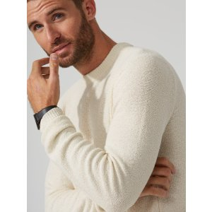 The Airy Crewneck Sweater in Whisper White