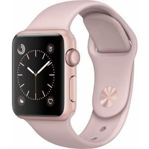 Apple Apple Watch Series 2 42mm Rose Gold Aluminum Case Pink Sand Sport Band Rose gold MQ142LL/A - Best Buy