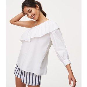 One Shoulder Blouse | LOFT