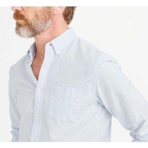 Slim Vintage Oxford Shirt In Sun-Faded Stripe