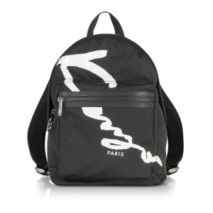 Kenzo Kenzo Signature Black Fabric Medium Backpack