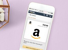 $10 CreditSend a $50 Amazon Gift Card by text