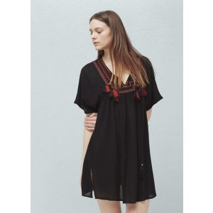 Embroidered panel dress - Women