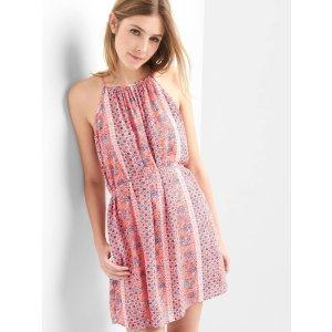 Floral halter swing dress | Gap