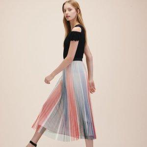 JONAELO Pleated midi skirt - Skirts & Shorts - Maje.com