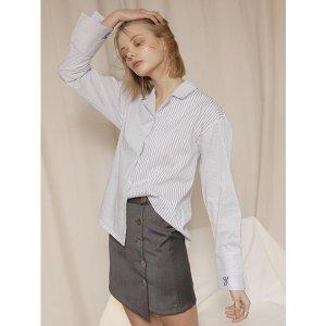 YUPPE two stripe shirts_white