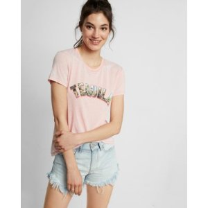 Express One Eleven Tequila Burnout Crew Neck Tee   Express
