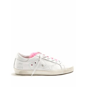 Super Star low-top fur-trimmed leather trainers