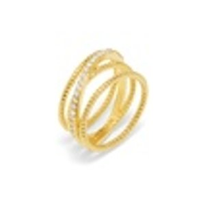 Carly Crossover Ring | BaubleBar
