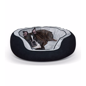 K&H Pet Products Round N' Plush Bolster Bed | Bon-Ton