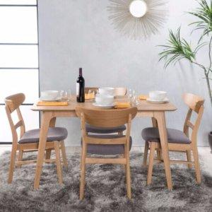 $399.98-$495.49 包邮Idalia长方形餐桌配4把餐椅套装