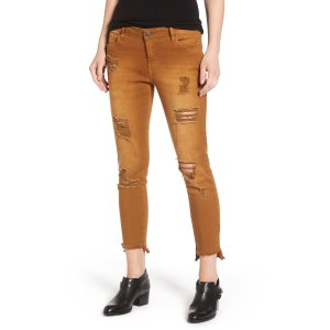 STS Blue Step Hem Skinny Jeans (Cinnamon)   Nordstrom