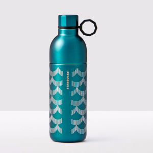 Siren Scales Anniversary Collection Two-Piece Stainless Steel Teal Water Bottle