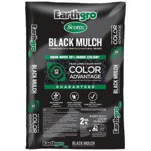Scotts Earthgro 2立方英尺铺地木屑 黑色