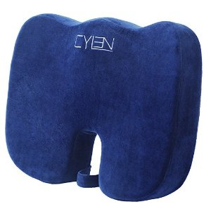 Ventilated Orthopedic Seat Cushion for Coccyx Back Support