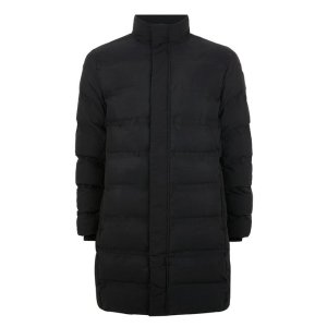 SELECTED HOMME Black 'First' Long Puffer Jacket - New Arrivals - New In