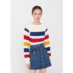 Striped cotton sweater -  Women | MANGO USA