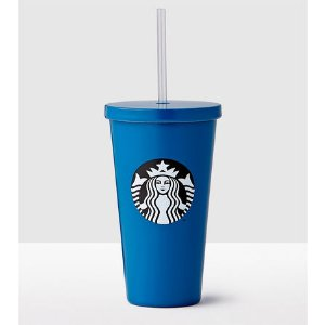 Solid Blue Stainless Steel Cold Cup | Starbucks® Store