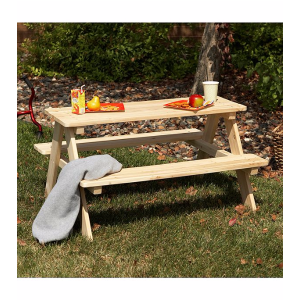 Northbeam Wooden Kids Picnic Table | Bon-Ton
