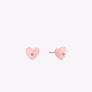 Rose Gold-Tone Heart Stud Earrings